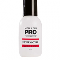 UV Remover Quick & Easy - Profesjonalny płyn do usuwania lakierów hybrydowych 50 ml - Mollon PRO